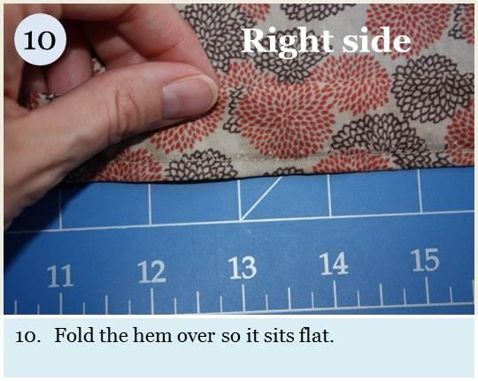 Blind hem tutorial step 10