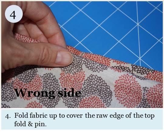 Blind hem tutorial step 4