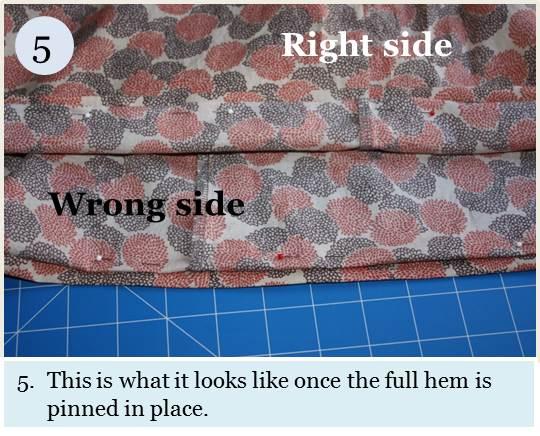 Blind hem tutorial step 5