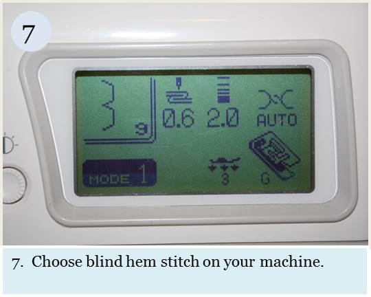 Blind hem tutorial step 7