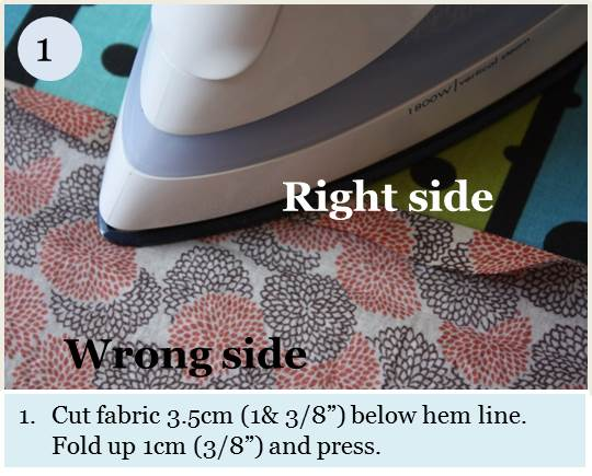 Blind hem tutorial step 1