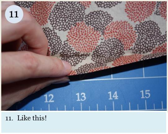 Blind hem tutorial step 11